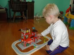 little boy playing