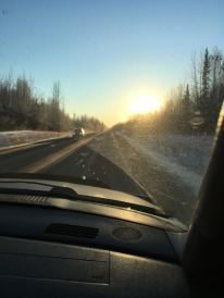 Driving home from Talkeetna