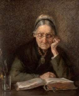Knoop, M.; An Old Woman Reading
