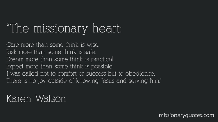 The Missionary Heart
