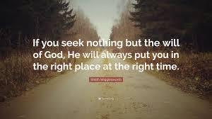 If you seek nothing