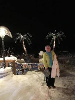 Islander Palm Snow Trees